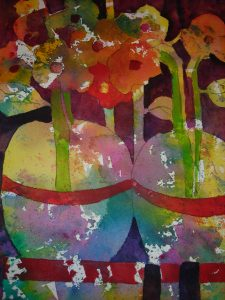 Ginger Jars, Media: Watercolor on Paper