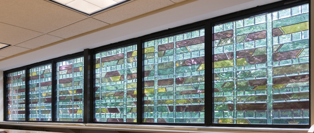Robert L. Joliet, Library Window Stained Glass Panels